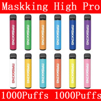 Maskking High Pro Disable Vape Pen Pod POD Kit de cigarro Local MK Descartável E Cigarros 1000 Puffs Vape Descartável VS Barras Puff