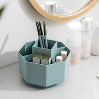 Storage Boxes & Bins Multifunctional 360 Degree Rotating Holder Desktop Box Stationery Organizer Makeup Brush Pen Case Bathroom