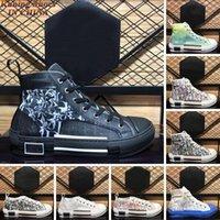2021 Arrivla Luxurys Designer Casual Shoes B23 Schrägante Technologie Leinwand Große Größe US 12 Männer Frauen Mode PS High TOP B24 TopShop999