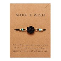 Naturstein Armbänder für Frauen Stretch Mondkreis Dekorative Einstellbare Strangarmbänder für Paare Freundschaftsgeschenk