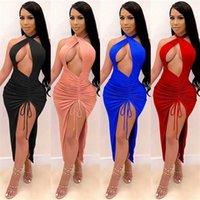 Jaycosin Robe d'été Femme Sexy Top Taille haute Taille Nationale National Vol V Numéros Bohême Femme Robe Casual Femmes Robe Style Type de genou Longueur Dressexy