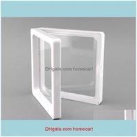 Storage Housekeeping Organization Home Gardenstorage Scatole scatole Bins 50 Pz 7x7x2cm, Membrane di plastica trasparente PO Struttura del telaio PO / scatola di raccolta / Je