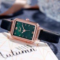 Diseñador Luxury Brand Watches Montre Femme Mujer Casual Damas Romántico Pulsera Estrella Cuero Rhinestone Reloj Sencillo