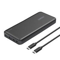 20000mAh 휴대용 USB C 전원 은행 노트북 충전기 PD 45W 배터리 팩 (유형 C 45W 출력 30W 입력)