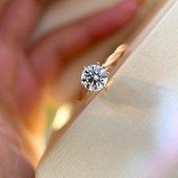 S925 Anello punk di fascino argento S925 con un diamante per le donne Regalo di gioielli da sposa in due colori placcato con stile speciale PS8909