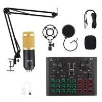 BM800 مكثف ميكروفون بلوتوث الصوت بطاقة خلاط تسجيل الصوت البث المباشر DJ حامل USB اللاسلكي المهنية