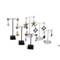 مجوهرات قلادة القرط حلقة عرض موقف رف البلاستيك مجوهرات عرض حامل رف مجوهرات srorage منظم DHF7453