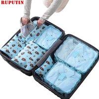 Sacs Duffel Ruputin 7pcs / Set Trip Bagage Organisateur Vêtements Kit Finition Kit Écolets Project Emballage Sac de stockage de haute qualité Voyage