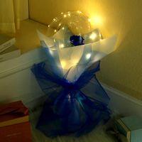 Valentinstag-LED-Luftballons Licht leuchtend Bobo-Ballballon blinkendes Licht Rose Bouquet Liebhaber Geschenke für Geburtstag Hochzeit E121802