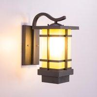 JML LED Duvar Lambaları Yeni Çin Tarzı Su Geçirmez Açık Kapalı Duvar Işık Villa Avlu Teras Bahçe Işıkları Için