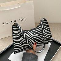 Evening Bags Fashion Zebra Print Women Luxury Handbag PU Leather Simple Underarm Shoulder Female Daily Design Baguette Totes Purse Pouch