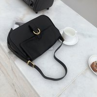 New Style Retro Large Capacity Black One Shoulder Underarm Bag Baguette Bag All-Match Fashionable Flip Crossbody Handbag for Women