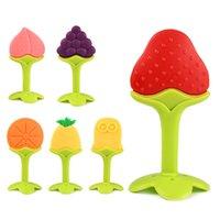Infantil Teether Silicone Molar Molar Fruta de Morango Tridimensional Fruta Products