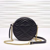 Newbag555 rodada moda genuína meninas bolsas malas de ombro da cadeia de lafp crossbody dicky0750 boutique bolsas marca mini couro sigq