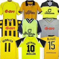 98 99 rétro 01 02 Dortmund Soccer Jerseys 00 02 Chemises de football classiques Lewandowski Rosicky Bobic Koller 95 96 97 Borussia 94 95 12 13 Reus