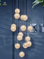 Nordic Light Pendants Globe Globe Lampadari Lampadari Illuminazione 15/08/24/36 Testate Ristorante Stair Home Hotel Soffitto Pendente a soffitto Apparecchio