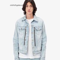 men coat 2021 new luxurys designers Amiry motorcycle parquet cashew patch multi zipper denim jacket hoodie jacket coat baseball jacket coats suit pilot