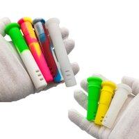 2021 Down-système de silicone 14mm femelle 18mm mâle coupe tabac tabagisme verre bangs bangs eau plate-forme de silicone de silicone pour bong