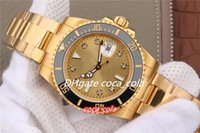 Top Mens Watch VroFactory Automatic ETA 2836 Zegarki ruchu owinięty 18k Yellow Gold Diamond Men Data 116618 Zegarek K6