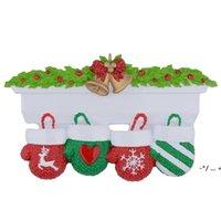 NewStyle Personalisierte Familie Weihnachtsbaum Ornament Anhänger Mini Weihnachtsstocking Hängende Anhänger FWE10078