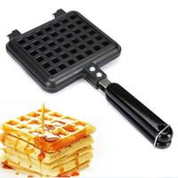Elektrik yapışmaz Waffle Maker Demir Makinesi Ev Mutfak Gaz Pan Kabarcık Yumurta Kek Fırın Kahvaltı Makinesi Aracı