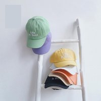 Caps & Hats Est Summer Baby Girl Boy Sun Hat Cotton Solid Color Letter Printing Snapback Baseball Cap Toddler Kids Bucket