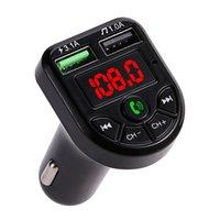 BTE5 자동차 MP3 플레이어 블루투스 FM 송신기 자동차 FM 변조기 듀얼 USB 충전 포트 12-24V 일반 차량 자동차 충전기 소매 상자