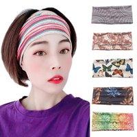 New Floral Print Turban Headwrap Sports Elastic Yoga Hairband Fashion Cotton Fabric Wide Headband For Women Hair Accessoires