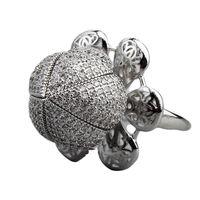 Mode einstellbare Rosenringe Solitaire Personalisierte Inlaid Zirkonium Diamant Open Ring Engagement Gedenken Tag Exquisite Geschenk