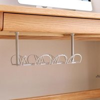Hooks & Rails Under Desk Management Tray Table Bottom Power Cable Organizer Plug Storage Basket Shelf Wire Strong Holder Socket DWD7725
