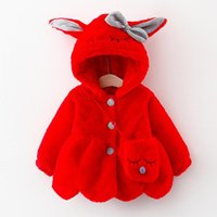 Down Coat Bear Leader Winter Children's Clothing Girls Long-Sleeved Hooded Jacket Warm Thick Wool Sweater Ears