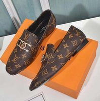 Clasics Mocasines Mujeres Dress Shoes Zapatos planos Lienzo y Mocasines de piel de cordero real Dos tonos Cap Toe Moda Zapatos casuales Home011 01