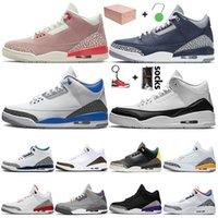 Retro 3 3s الرجال جزء كاترينا الحيوان غريزة 2،0 عاليا حذاء كرة السلة الحريرالأردنالرجعية في الهواء الطلق الاحذية احذية رياضية