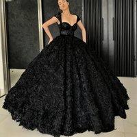 Свадебные платья свадебные платья невесты носить полную длину 3d роза цветы черное бордовое красное кружево вверх назад vestido de noiva