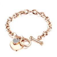 Stainless Steel Love Heart Bracelets For Women Party Gift Fashion Chain Charm Bracelet Jewelry Wholesale Text Engraved