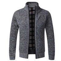 Aiopeson Slim Fit Hırka Erkekler Standı Yaka Rahat Dış Giyim Erkek Kazak 2021 Yeni Sonbahar Kış İş Sıcak Erkek Giyim Y1011