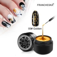 Nail Gel Francheska Stretch Drawing Glue Super Strong Lacquer Japanese Painted Nails Polish Spider Art Decoration Fast Dry TSLM1