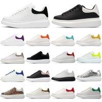 2021 Tasarımcı Alexander Ayakkabı Klasik Süet Kadife Deri Kadın Bayan Flats Platformu Boy McQueens Sneaker Erkekler Mens Espadrille Düz Tek McQueen Sneakers