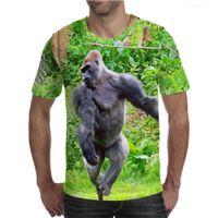 Men's Designer t shirts 3D printed funny Gorilla T-shirt DIY custom quick-dry breathable loose street Gothic casual short sleeve summer