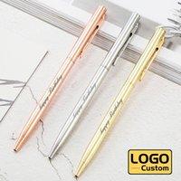 Ballpoint Pens Metal Advertising Pen Teacher Gift Business Office Signature Custom Logo Student Stationery Wholesale