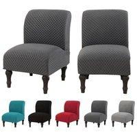 Kolsuz Sandalye Kapak Katı Renk Tek Koltuk Kanepe Slipcover Elastik Aksan Sandalye Slipcover Yemek Odası Ev Dekor Için
