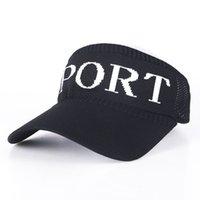 Unisex Yaz Topu Şapka Boş Üst Visor Kap Örme Beyzbol Kapaklar Oymak Kadın Erkek Spor Şapka Mektuplar Plaj Açık Kafa Elbise GG31603