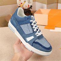Trainer Runner Sports Shoes Sendero Calfskin Luxurys Designers Sneakers Negro Blanco Verde Verde Cuero Suela Suela Vintage Classic Casual Shoe