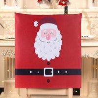 Noel Sandalye Kapak Noel Baba Kemer Sandalye Tabure Ile Çözgü Yemek Emniyet Kılıfı Mutlu Yıllar Noel Malzemeleri Moda