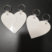 Blank keychains Sublimation mdf heart round blank transfer printing blank keychains key ring jewelry material sea shipping GWB9248