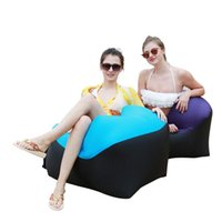 Camp Furniture Outdoor Inflatable Camping Chair Beach Sofa For Hiking Picnic And Fishing Rest Folding Air Lounge Bed