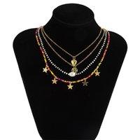 Bohemia Fashion Bead Colliers Colliers d'amour Collier Pendentif Heart pour Femmes Star Tassel Déclaration de bijouterie Charm 976 B3