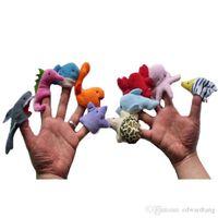 Animais de oceano bonito dos desenhos animados, fantoche de dedo cedo educação brinquedo de pelúcia, miúdo pai interativo, contar história adereços, presentes de aniversário de criança xmas, 2-2
