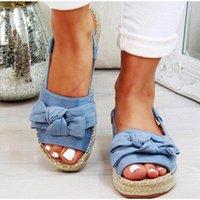 Yaz Rahat Papyon Bayan Sandalet Toka Kayışı Flats Sandalet Ayakkabı Kadın Katı Renk Peep Toe Sandalias Mujer 698 165 V #