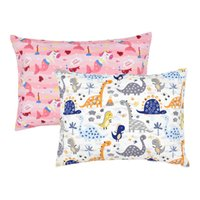 Toddler Pillows cases Organic Cotton Baby Pillow Cover Envelope Cartoon Print Kids Pillowcases for Boys and Girls M3802